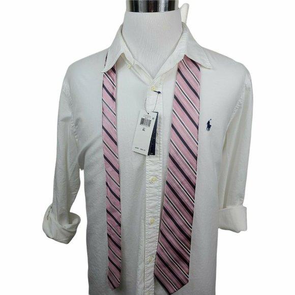 Michael Kors Pink Blue White Necktie